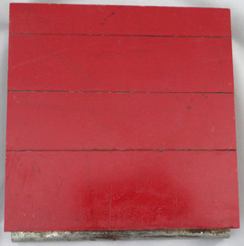 Chicago Bulls Game Used 6x6 Red Hardwood Floor Piece Michael Jordan Stock #123769