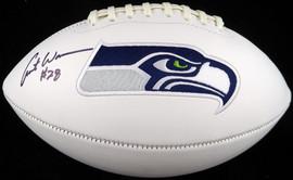 Curt Warner Autographed White Logo Football Seattle Seahawks MCS Holo Stock #124677