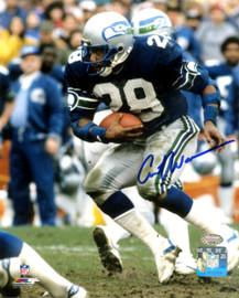 Curt Warner Autographed 8x10 Photo Seattle Seahawks MCS Holo Stock #124702
