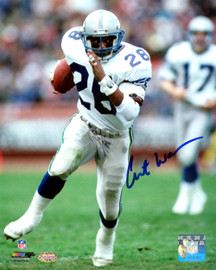Curt Warner Autographed 8x10 Photo Seattle Seahawks MCS Holo Stock #124703