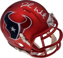 Deshaun Watson Autographed Houston Texans Blaze Mini Helmet Beckett BAS Stock #125279