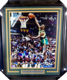 Shawn Kemp Autographed Framed 16x20 Photo Seattle Sonics MCS Holo Stock #126667
