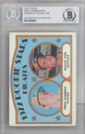 Richie Zisk Autographed 1972 Topps Rookie Card #392 Pittsburgh Pirates Beckett BAS #10209897