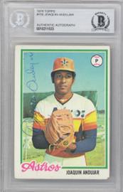 Joaquin Andujar Autographed 1978 Topps Card #158 Houston Astros Beckett BAS #10211533