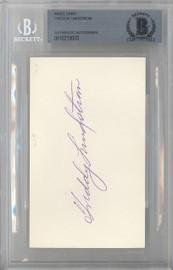 Freddy Lindstrom Autographed 3x5 Index Card New York Giants Beckett BAS #10213033