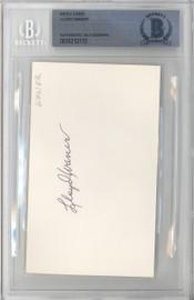 Lloyd Waner Autographed 3x5 Index Card Pittsburgh Pirates Beckett BAS #10213113