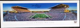 "Warren Moon Autographed 13x40 Panoramic Photo Washington Huskies ""78 Rose Bowl MVP"" MCS Holo Stock #128017"