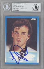 Luc Robitaille Autographed 1991-92 Score Card #375 Los Angeles Kings Beckett BAS #10266258