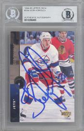 Igor Korolev Autographed 1994-95 Upper Deck Card #344 Winnipeg Jets Beckett BAS #10266465