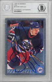 Igor Korolev Autographed 1995-96 Bowman Foil Card #9 Winnipeg Jets Beckett BAS #10266501