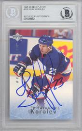 Igor Korolev Autographed 1995-96 Upper Deck Be A Player Card #135 Winnipeg Jets Beckett BAS #10266521