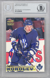 Igor Korolev Autographed 1998-99 Pacific Paramount Card #229 Toronto Maple Leafs Beckett BAS #10266604