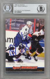Igor Korolev Autographed 1999-00 Pacific Card #411 Toronto Maple Leafs Beckett BAS #10266607