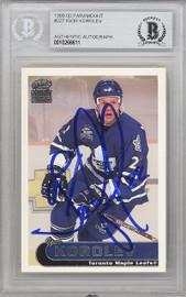 Igor Korolev Autographed 1999-00 Pacific Paramount Card #227 Toronto Maple Leafs Beckett BAS #10266611
