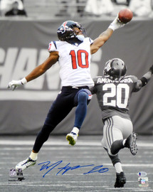 DeAndre Hopkins Autographed 16x20 Photo Houston Texans Spotlight Beckett BAS Stock #129172