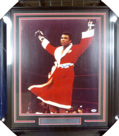 Muhammad Ali Autographed Framed 16x20 Photo PSA/DNA #S14049