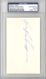 "Bernie ""Boom Boom"" Geoffrion Autographed 3x5 Index Card Montreal Canadiens, New York Rangers PSA/DNA #83811677"