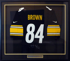 Pittsburgh Steelers Antonio Brown Autographed Framed Black Nike Jersey Beckett BAS Stock #130317