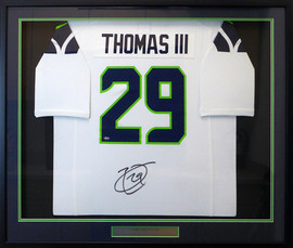 Seattle Seahawks Earl Thomas Autographed Framed White Nike Jersey MCS Holo Stock #130325