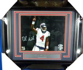 Deshaun Watson Autographed Framed 8x10 Photo Houston Texans Beckett BAS Stock #130230