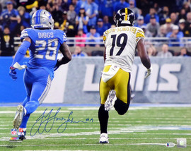 JuJu Smith-Schuster Autographed 16x20 Photo Pittsburgh Steelers Beckett BAS Stock #130747