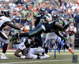Marshawn Lynch Autographed 8x10 Photo Seattle Seahawks ML Holo Stock #130750