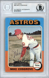 Mike Cosgrove Autographed 1975 Topps Card #96 Houston Astros Beckett BAS #10378512