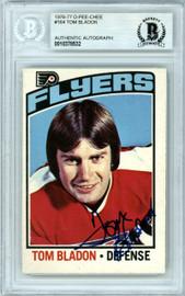 Tom Bladon Autographed 1976-77 O-Pee-Chee Card #164 Philadelphia Flyers Beckett BAS #10378532