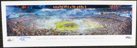 Russell Wilson Autographed 13x40 Super Bowl XLVIII Panoramic Photo Seattle Seahawks RW Holo Stock #131230