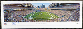 Russell Wilson Autographed 13x40 Century Link Field Panoramic Photo Seattle Seahawks RW Holo Stock #131231