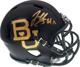 Josh Gordon Autographed Baylor Bears Matte Black Speed Mini Helmet Beckett BAS Stock #131615