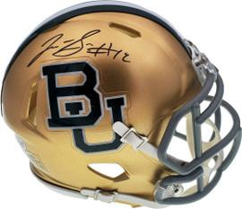 Josh Gordon Autographed Baylor Bears Gold Speed Mini Helmet Beckett BAS Stock #131616