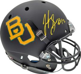 Josh Gordon Autographed Baylor Bears Matte Black Full Size Replica Helmet Beckett BAS Stock #131621