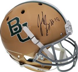 Josh Gordon Autographed Baylor Bears Gold Full Size Replica Helmet Beckett BAS Stock #131622