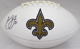 Marshon Lattimore Autographed New Orleans Saints White Logo Football Beckett BAS Stock #131954