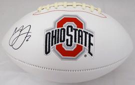 Marshon Lattimore Autographed Ohio State Buckeyes White Logo Football Beckett BAS Stock #131953