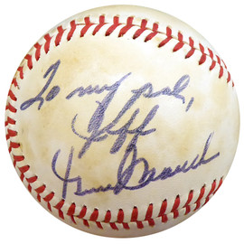 """Gene Mauch Autographed Official AL Baseball California Angels, Montreal Expos """"To Jeff"""" Beckett BAS #E94368"""