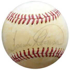 Frank Robinson Autographed Official AL Baseball Baltimore Orioles, Cincinnati Reds Vintage Beckett BAS #E95490