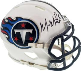 Marcus Mariota Autographed Tennessee Titans Speed Mini Helmet Beckett BAS Stock #132507