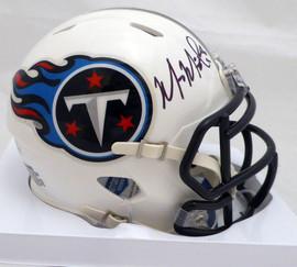 Marcus Mariota Autographed Tennessee Titans Speed Mini Helmet (Smudged) Beckett BAS #K13709