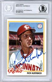 Rick Auerbach Autographed 1978 Topps Card #646 Cincinnati Reds Beckett BAS #10447312