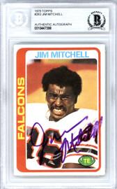 Jim Mitchell Autographed 1978 Topps Card #263 Atlanta Falcons Beckett BAS #10447398