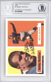 Bobby Watkins Autographed 1994 1957 Topps Archives Card #7 Chicago Bears Beckett BAS #10448088