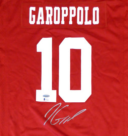 San Francisco 49ers Jimmy Garoppolo Autographed Red Nike Jersey Size XL TriStar & Beckett BAS Stock #133389