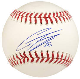 "Gleyber Torres Autographed Official MLB Baseball New York Yankees ""#25"" Beckett BAS Stock #133469"