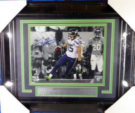 Jermaine Kearse Autographed Framed 8x10 Photo Seattle Seahawks Super Bowl XLVIII MCS Holo #35517