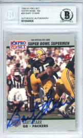 Bart Starr Autographed 1990 Pro Set Card #36 Green Bay Packers Beckett BAS #10540626