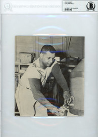 Roy Campanella Autographed 6x6.5 Magazine Page Photo Brooklyn Dodgers Pre-Accident Signature Beckett BAS #10541263