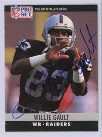 Willie Gault Autographed 1990 Pro Set Card #153 Los Angeles Raiders SKU #134767