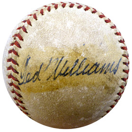 Ted Williams Autographed Baseball Boston Red Sox Vintage 1940's Signature Beckett BAS #A74702
